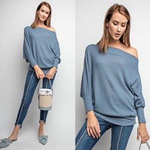 HELEN Off Shoulder Thermal Tunic Top